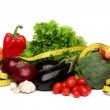 Delicious group of healthy vegetables over white — Stock Photo #28068743