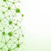 Molecules background — Stock Vector