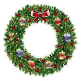 Christmas wreath — Stok Vektör