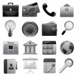 Detailed business icons — Stock Vector
