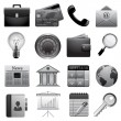Detailed business icons — Stock Vector #19496421