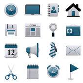 Icônes de l'entreprise — Vecteur