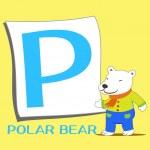 alfabeto animal p — Vetorial Stock