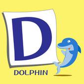 Animal alphabet D — Stock Vector