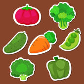Cute vegetable collection 01 — Stock Vector