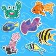 Royalty-Free Stock Vector Image: Cute sea animal stickers04