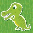 Stock Vector: Cute dinosaur sticker13