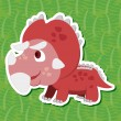 Stock Vector: Cute dinosaur sticker11