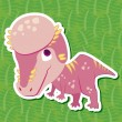 Stock Vector: Cute dinosaur sticker20