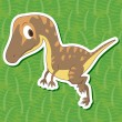 Stock Vector: Cute dinosaur sticker14