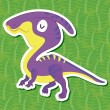 Stock Vector: Cute dinosaur sticker15