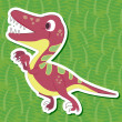 Stock Vector: Cute dinosaur sticker19