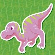 Stock Vector: Cute dinosaur sticker24