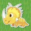 Stock Vector: Cute dinosaur sticker25