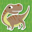 Stock Vector: Cute dinosaur sticker26