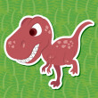 Stock Vector: Cute dinosaur sticker32