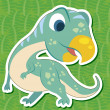 Stock Vector: Cute dinosaur sticker29