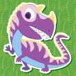 Stock Vector: Cute dinosaur sticker35