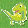 Stock Vector: Cute dinosaur sticker30