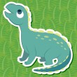 Stock Vector: Cute dinosaur sticker36