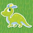 Stock Vector: Cute dinosaur sticker40