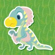Stock Vector: Cute dinosaur sticker42