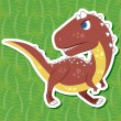 Stock Vector: Cute dinosaur sticker44