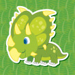 Stock Vector: Cute dinosaur sticker46