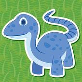Cute dinosaur sticker28 — Stock Vector