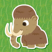 Cute prehistoric animals sticker — Stock Vector