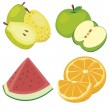 Cute fruit collection05 — Stock Vector