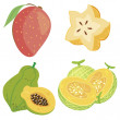 Stock Vector: Cute fruit collection04