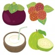 Cute fruit collection03 - Stock Vector