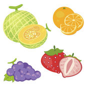 Cute fruit collection02 — Stock Vector