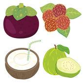 Schattig fruit collection03 — Stockvector
