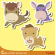 Cute animal set10 — Stock Vector #14955319