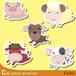 Cute animal set08 — Stock Vector