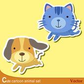 Cute animal set02 — Stock Vector