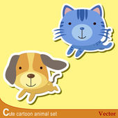 Cute animal set02 — Vetorial Stock