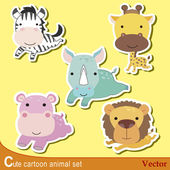 Cute animal set04 — Stock Vector