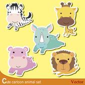 Cute animal set04 — Stock Vector