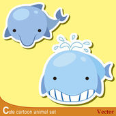 Cute animal set06 — Stock Vector
