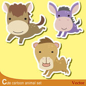 Cute animal set10 — Stock vektor