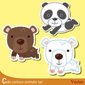 Cute dieren set01 — Stockvector