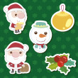 Xmas cute cartoon set — Stock Vector
