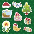 Xmas cute cartoon set — Stockvectorbeeld