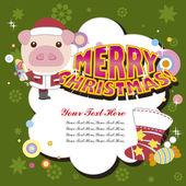 漫画のクリスマス カード — ストックベクタ