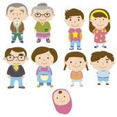 Cartoon family icon — Stock Vector