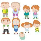 Rodzina ikona kreskówka — Wektor stockowy