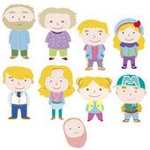 Cartoon family icon — Stock Vector